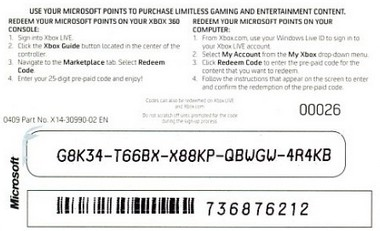 Xbox 360 Gift Card Code Generator Gift Ideas