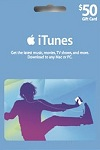 Apple iTunes, App Store $50 Gift Card CANADA
