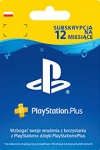 Sony Playstation Plus 12 Month Subscription Poland