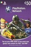Playstation Network Live Card €50 Ireland