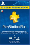 Sony Playstation Plus 12 Month Subscription Italy