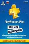 Sony Playstation Plus 365 Day Subscription Norway