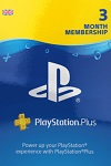 Sony PlayStation PLUS 3 Month Membership UK
