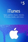Apple iTunes, App Store $5 Gift Card CANADA