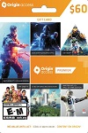 EA Origin Cash Card $60 US & Canada PC Windows