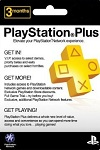 Sony Playstation Plus 3 Month Subscription USA