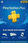 Sony Playstation Plus 12 Month Subscription Canada