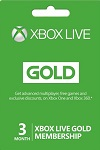 Xbox Live 3 month GOLD Subscription EU and UK