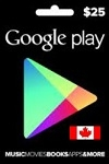 Google Play $25 Gift Card CANADA