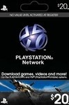 Playstation Network Live Card $20 USA