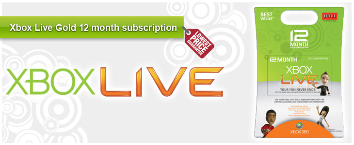 Xbox Live Gold 12 month subscription - Lowest Price Guarantee